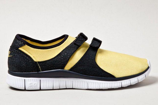 Nike Free Sockracer Yel Side 1
