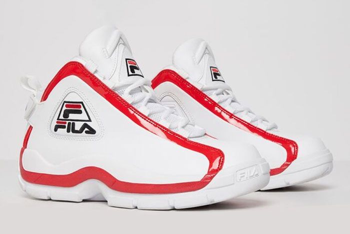 Fila Grant Hill 2 White Red Front Angle