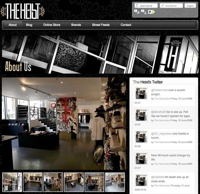 The Heist Website Launch 1