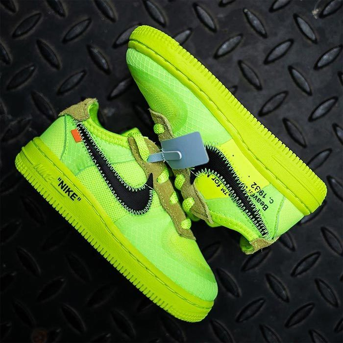 Off White Air Force 1 Volt Toddler 5