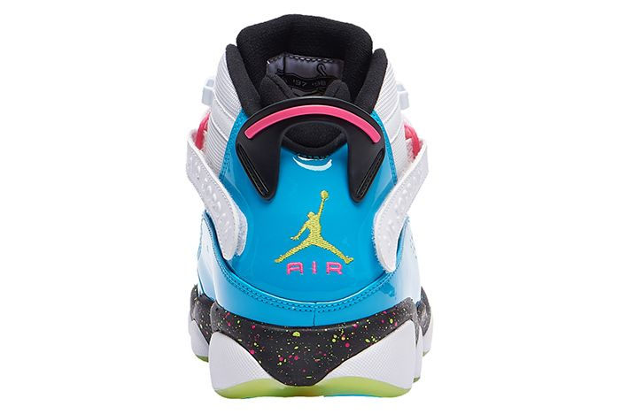 Jordan 6 Rings Light Blue Fury Heel