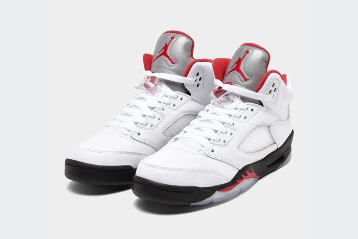 Air Jordan 5 Fire Red Pair