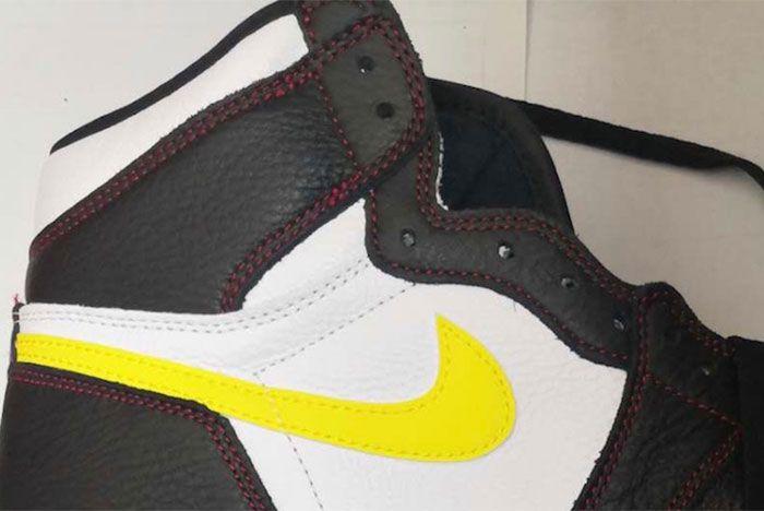 Air Jordan 1 White Black Dynamic Yellow University Red 555088 170 Release Date Leaked Shot