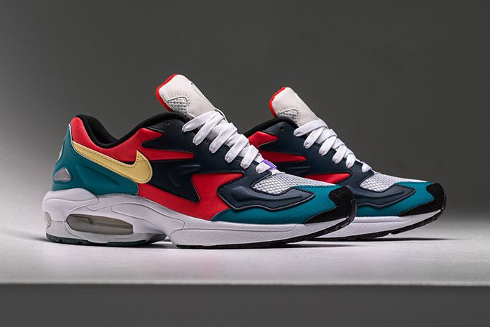 Nike Air Max2 Light Sp Habanero Red Armory Navy Radiant Emerald Bv1359 600 Release Date Pair