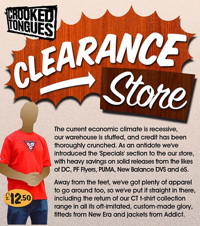 Crooked Tongues Clearance Store 3