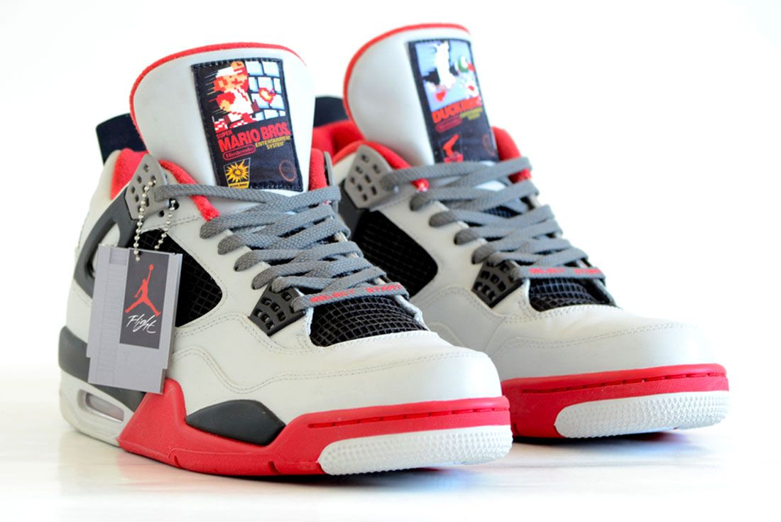 Air Jordan 4 Super Mario Custom 2