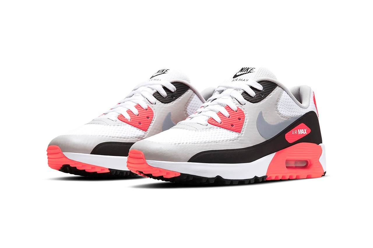 Nike Tap In An 'Infrared' Air Max 90 Golf - Sneaker Freaker