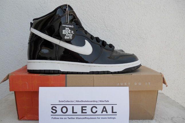 Nike Dunk High Black Patent 1