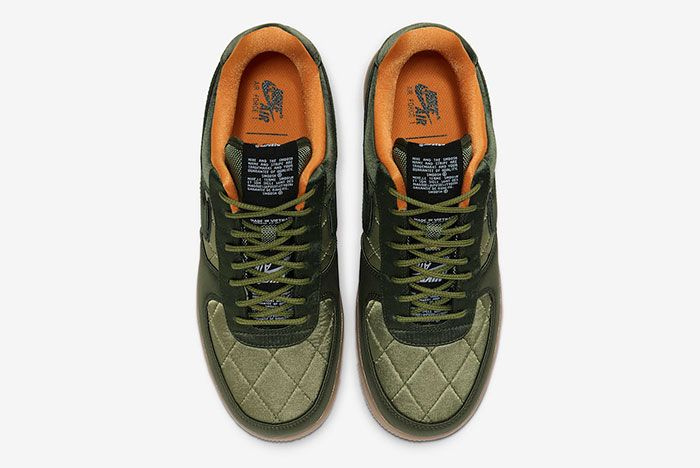 Nike Air Force 1 Low Quilted Olive Flight Jacket Cu6724 333 Top