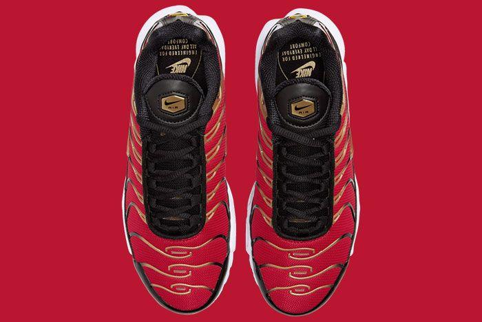 Nike Air Max Plus University Red Metallic Gold Cu4919 600 Top