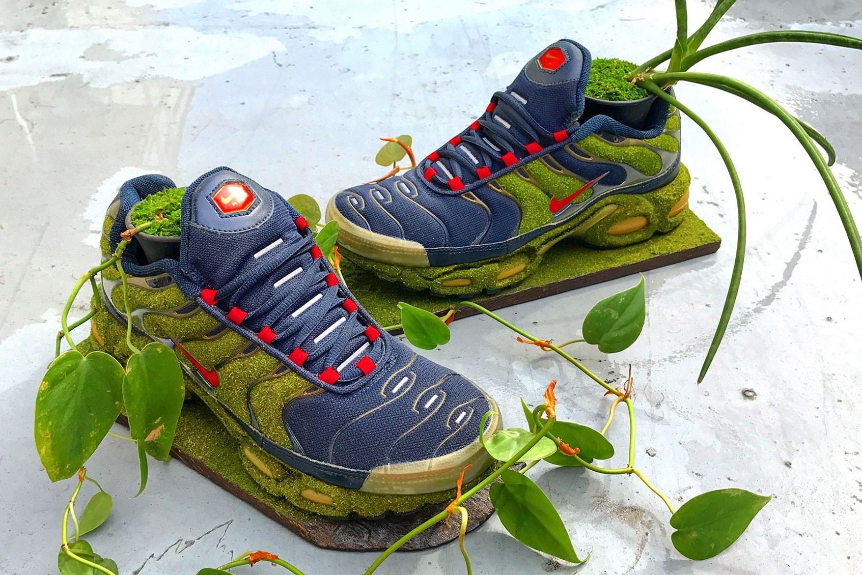Artist Shoetree Nike Sneakers Sculptural Houseplants 7