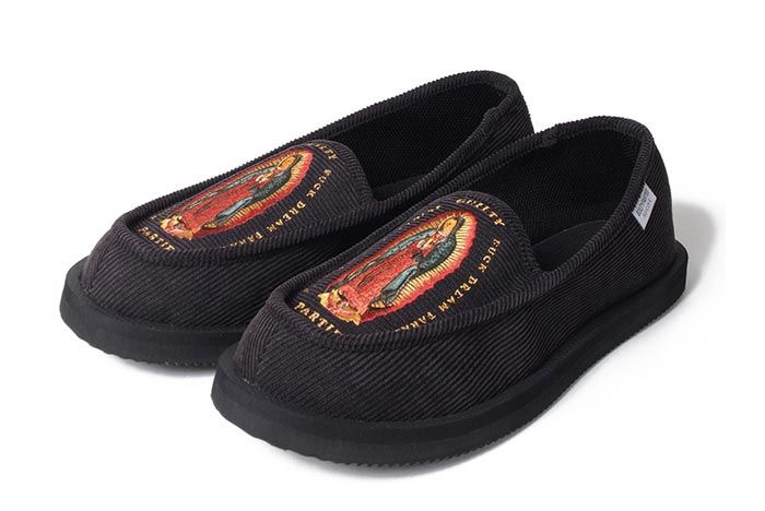 Wacko Maria Suicoke Deebo Shoes Patterened Three Quarter Lateral Side Shot