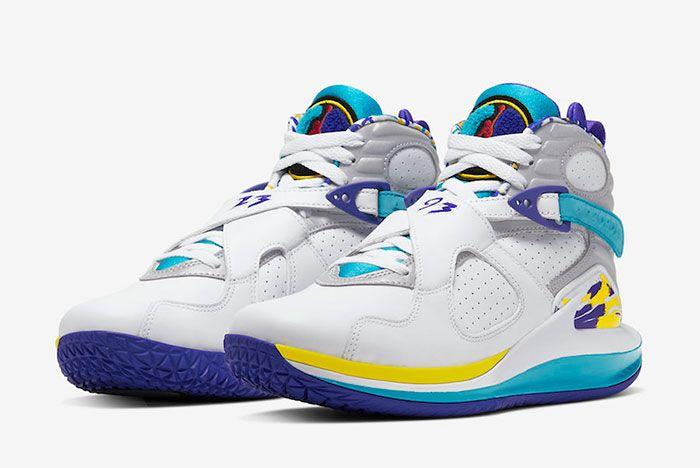 Nike Court Zoom Zero Jordan 8 Aqua Cq4481 100 Front Angle