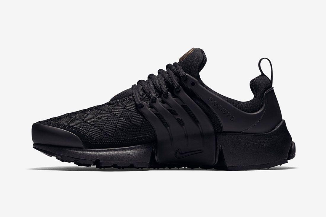 Nike Air Presto Woven Tripe Black 3