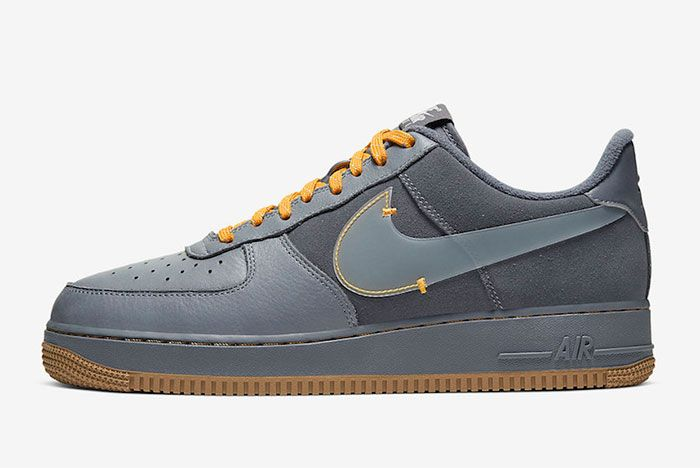 Nike Air Force 1 Low Cool Grey Yellow Cq6367 001 Release Dateside