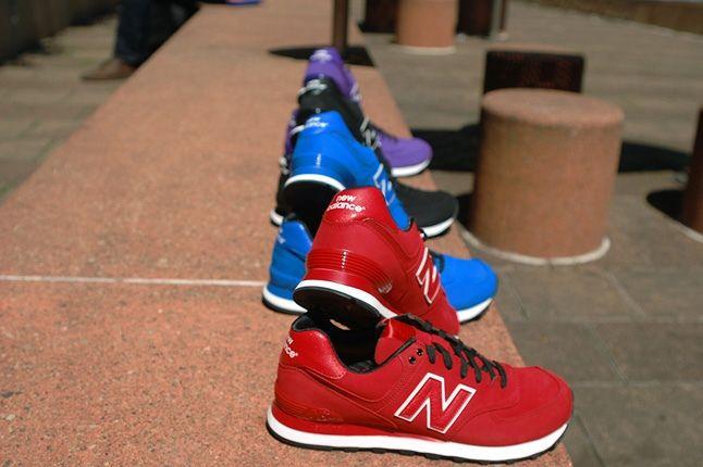 New Balance 574 Monochrome Nubuck Pack 8