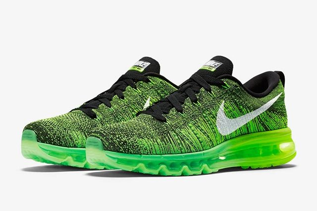 Nike Flyknit Air Max Voltage Green 1