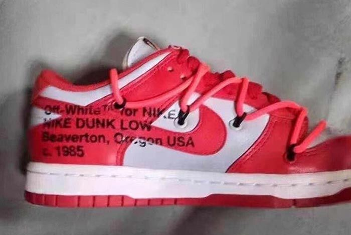 Off White Nike Dunk Low Red Leak