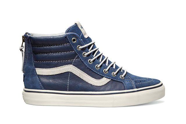 Vans Sk8 Hi Zip Lx Blue Sideview