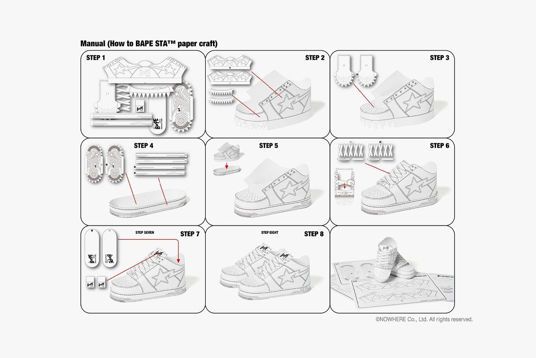 BAPE STA Paper Craft Instructions