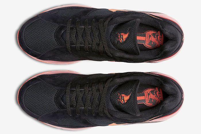 Nike Air Max 180 Black Team Orange University Red Av3734 001 Release Date 3 Sneaker Freaker