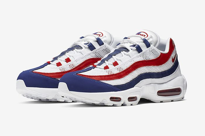 Nike Air Max 95 Red White Blue July 4 2019 Release Date Pair