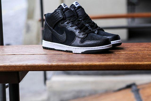 Nike Dunk Cmft Croc Blackwhite