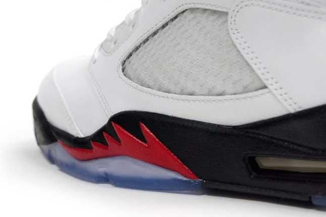 Ajv White Fire Red Flame Detail 1