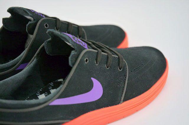 Nike Sb Lunar Stefan Janoski Black Hyper Grape Hyper Punch Closeup