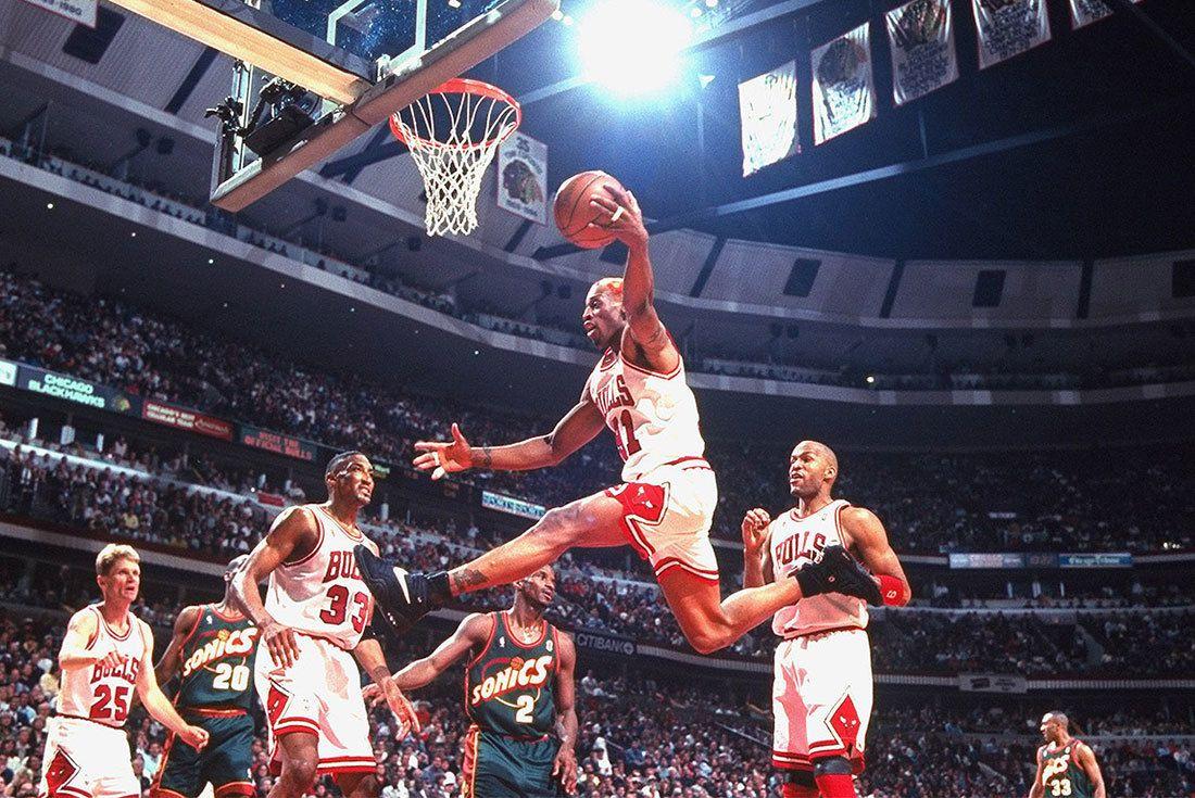 Dennis Rodman Bulls Rebounder Vault