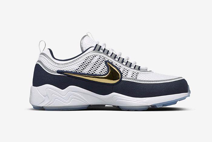 Nike Air Zoom Spiridon White Gold Navy Blue 4