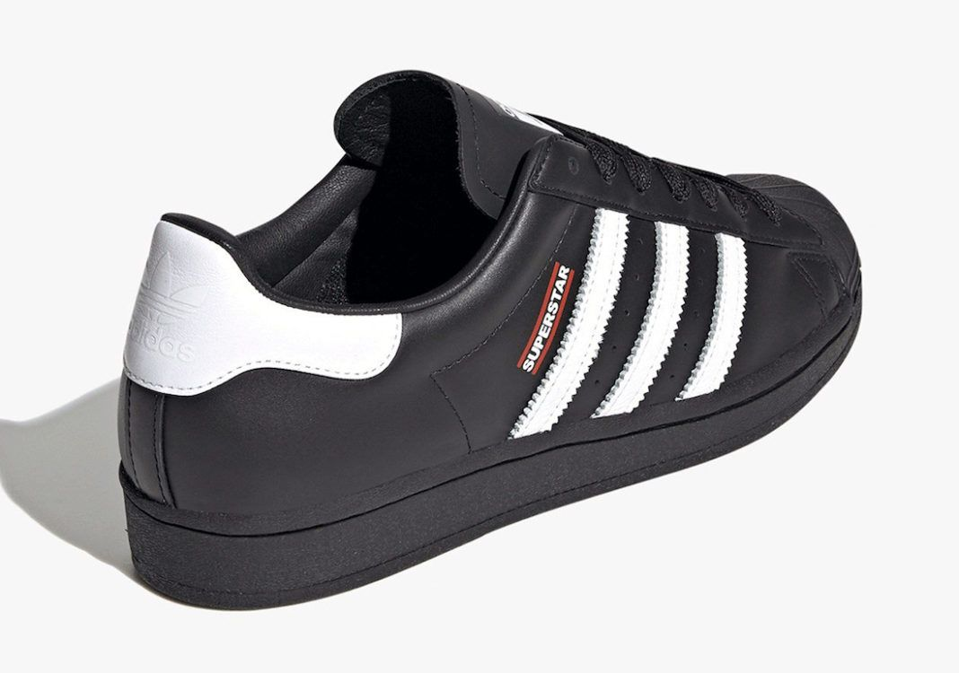 Jam Master Jay adidas superstar on white