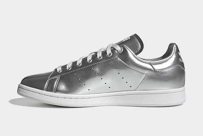 Adidas Stan Smith Silver Metal Fv4300 Medial