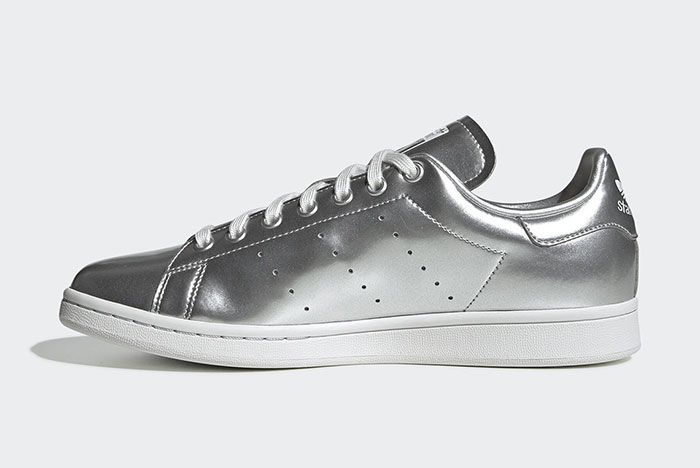 Adidas Stan Smith Silver Metal Fv4300 Medial