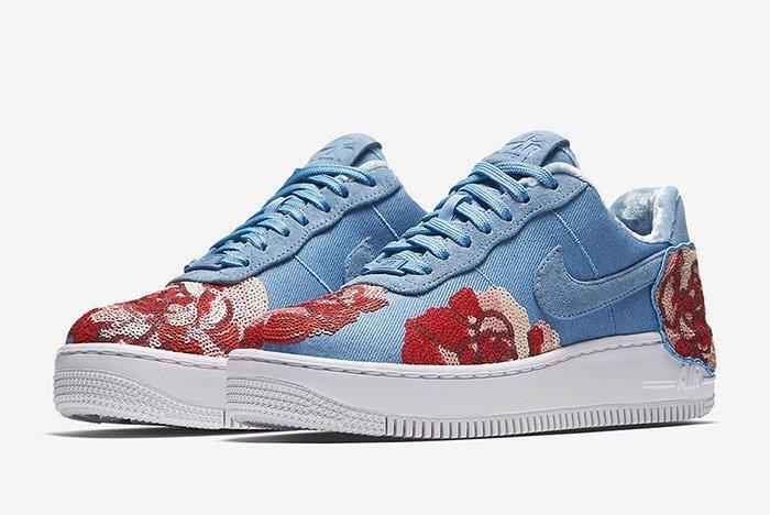 Nike Air Force 1 Denim Floral Seqine 7