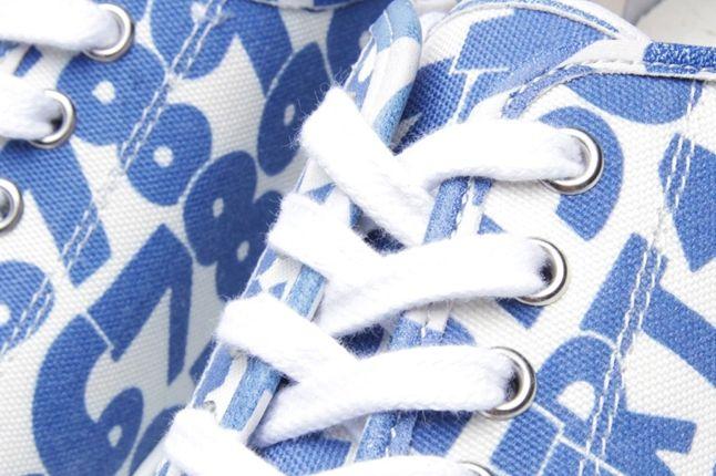Comme Des Garcons Shirt X The Generic Man Print Sneaker Laces 1