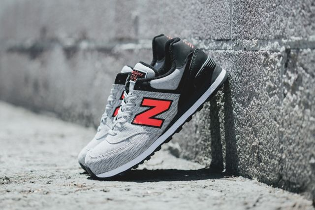 New Balance 574 Sweatshirt Grey Orange 2