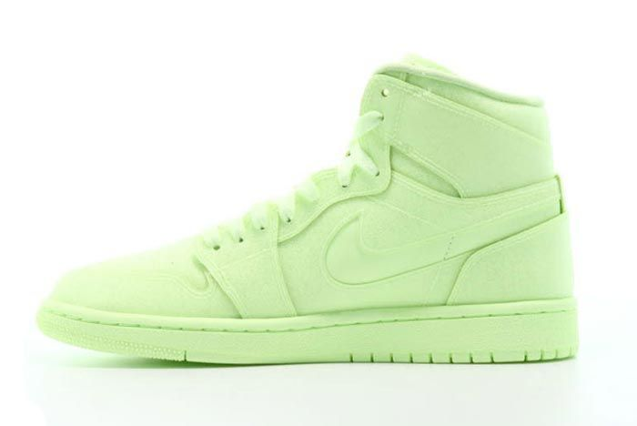 Air Jordan 1 Womens Barely Volt Medial