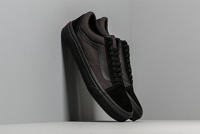 Triple Black Vans Old School Back To School