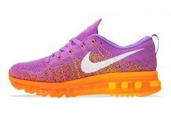 Nike Wmns Flyknit Max Atomic Purple Total Orange 5