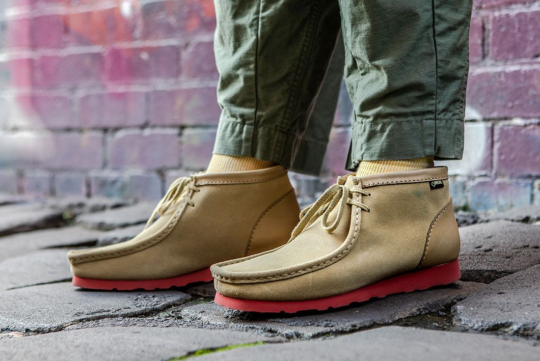 Clarks Wallabee Nanamica On Foot