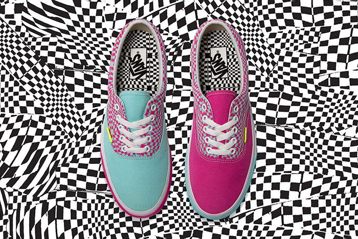 Vans Size Era Warped Check Top View
