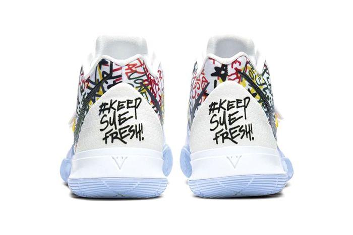 Nike Kyrie 5 Keep Sue Fresh Cw4403 100 Release Date Heel