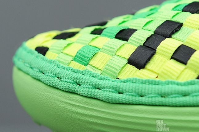 Nike Solarsoft Mule Woven Poison Green Black Toe Detail 1