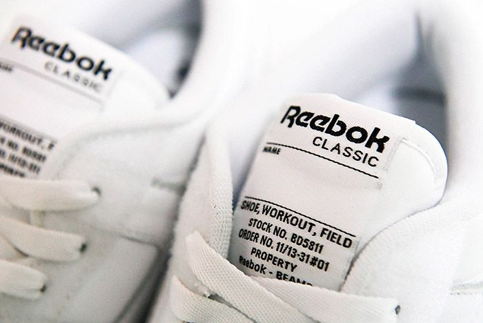 Beams Reebok Workout Low White 3