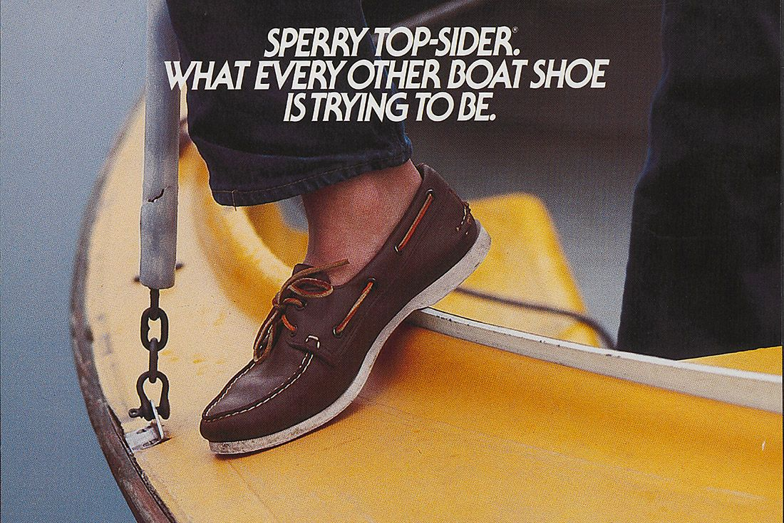 History Sperry Top Sider Advertisement Xx