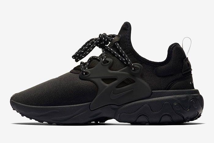 Nike React Presto Triple Black Av2605 004 Lateral