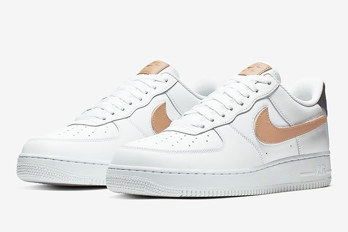 Nike Air Force 1 Removable Swoosh Pack White Left