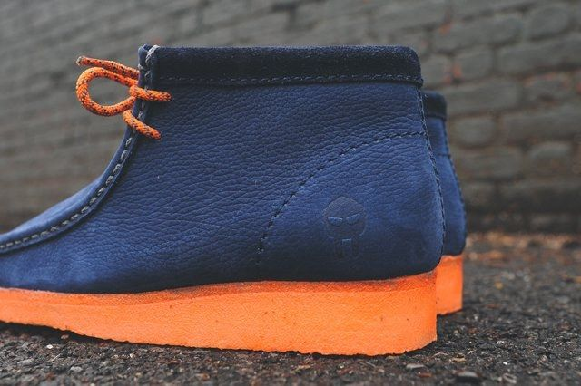 Mf Doom X Clarks Wallabee Boot Navy 7