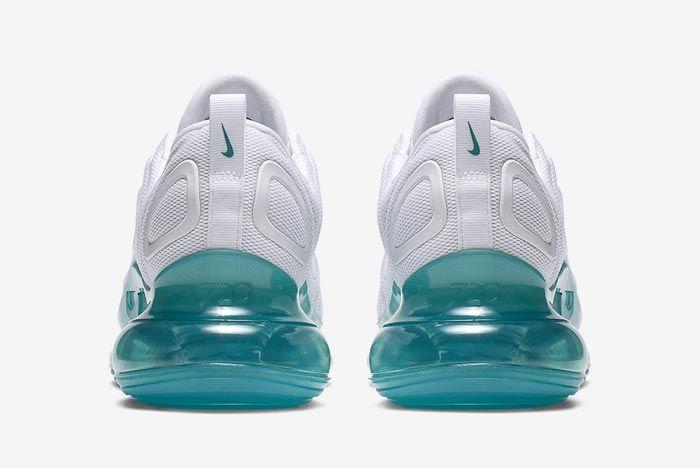 Nike Air Max 720 White Spirit Teal Heels